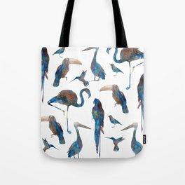 Tropical Birds Watercolor Tote Bag