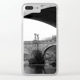 Sant'Angelo Bridge Rome Clear iPhone Case