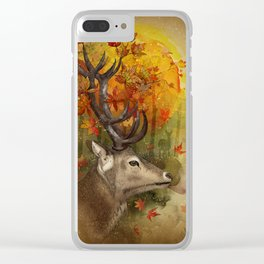 Oh, Deer! Autumn Clear iPhone Case
