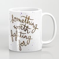 snape Mugs featuring Something worth fighting for by Earthlightened
