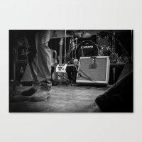 eddie vedder Canvas Prints featuring Eddie Vedder Guitar by Tim Schavitz
