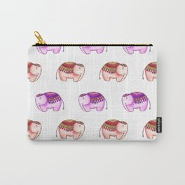 Pink and tan elephants Carry-All Pouch