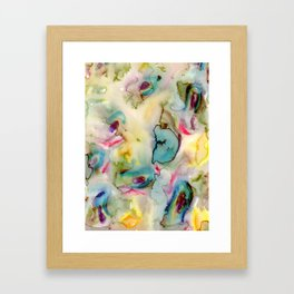 green absstract Framed Art Print