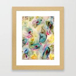 green absstract Framed Art Print