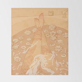 Flower Bath 10 (uncensored version) Throw Blanket