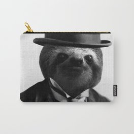 Sloth with Bowl Hat Carry-All Pouch