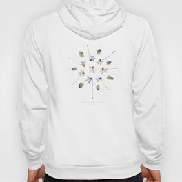 wildflower mandala... purple violets, guinea fowl feathers Hoody