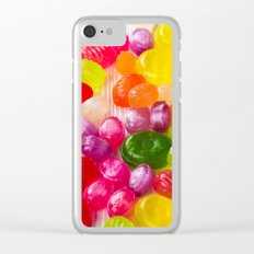 Colorful Sweet Candies Clear iPhone Case