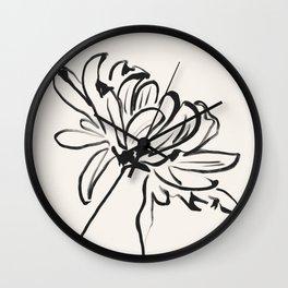 sketch art flower Wall Clock