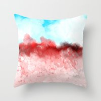 minerals Throw Pillows featuring Pink Minerals by Jessielee