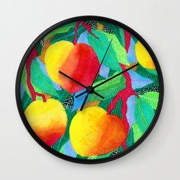 summer peaches Wall Clock
