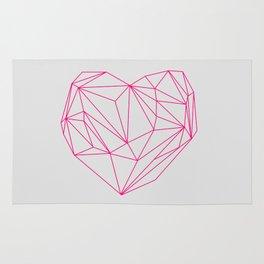 Heart Graphic Neon Version Rug