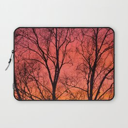 Tree Silhouttes Against The Sunset Sky #decor #society6 #homedecor Laptop Sleeve