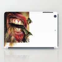 tomb raider iPad Cases featuring Animal Tomb  by amanda chervinko