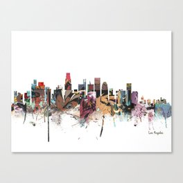 los angeles skyline comic Canvas Print