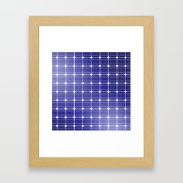 In charge / 3D render of solar panel texture Framed Art Print