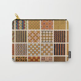 Egyptian Patterns, Vintage Design Carry-All Pouch