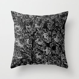 Pixelated Boxes Throw Pillow