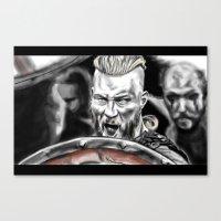 vikings Canvas Prints featuring vikings by Flyens
