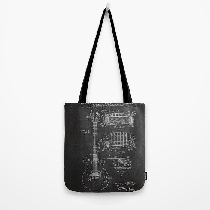 Guitar Patent Tote Bag