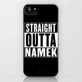 Straight Outta Namek iPhone Case