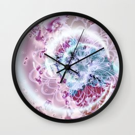 Fractal Whimsy Wall Clock