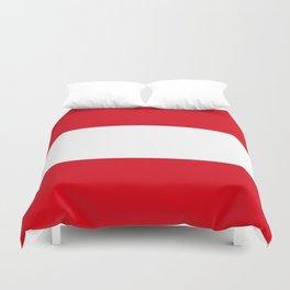 Flag: Austria Duvet Cover