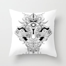 THE CREATURE  Throw Pillow
