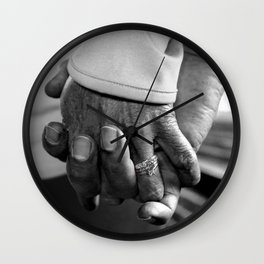 Old Married Hands Wall Clock