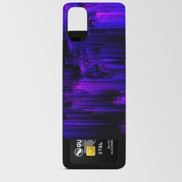 Ultraviolet Light Speed - Abstract Glitch Pixel Art Android Card Case