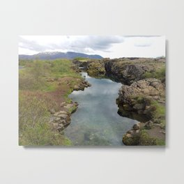 Thingvellir Iceland Metal Print