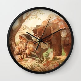 Dwarfen merchant Wall Clock