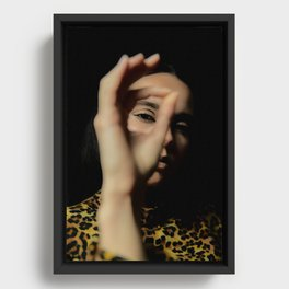 Look here Framed Canvas