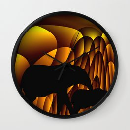 Storms Over Africa Wall Clock