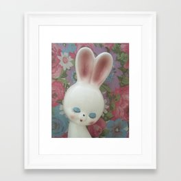 White Hare Framed Art Print