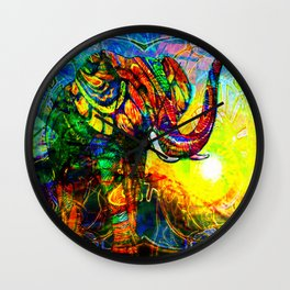 """ The old elephant knows where to find some water. "" Wall Clock"