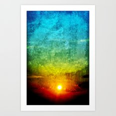 God's Painting Art Print