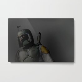 Boba Fett 'The Hunter' | Artist: Nick Clements Metal Print