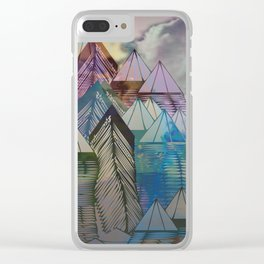 Triangular Endings on the Top Above the Clouds / Urban 04-11-16 Clear iPhone Case
