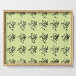 Ancient Imp Mythical Mythology Color Pattern Serving Tray
