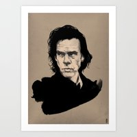 nick cave Art Prints featuring Nick Cave  by Philipp Banken