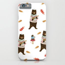 Autumn party in the forest iPhone Case