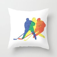 hockey Throw Pillows featuring Hockey by preview