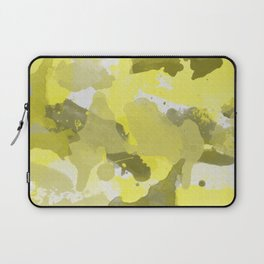 Yellow Splatters Watercolor Laptop Sleeve