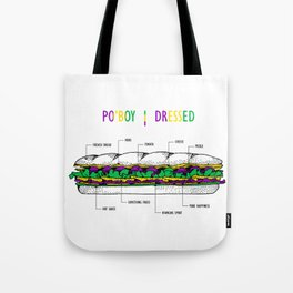 New Orleans Po'boy Tote Bag