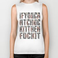 chuck Biker Tanks featuring Chuck Yeah!  by MistyAnn @ What the F-stop Prints