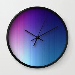 Fuchsia Blue Ombre Wall Clock
