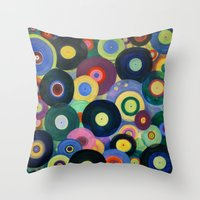 record Throw Pillows featuring Record High by Femi Ford