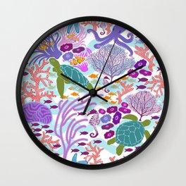 Rush Hour at the Reef - Ocean Life - Sea Life - Marine - beach  Wall Clock