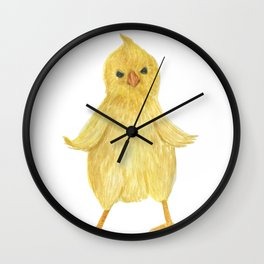 Cute baby chicken Wall Clock